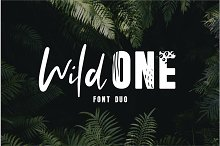 Wild One - A Wild Font Duo by  in Display Fonts