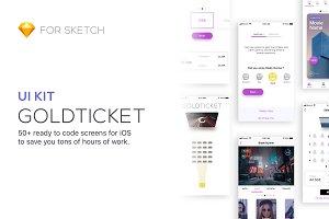 Gold Ticket UI Kit