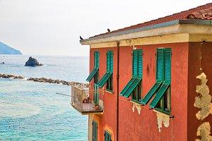 Italy, scenic Monterosso shore