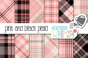Pink and Black Plaid Patterns