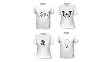 T-shirt template set. Vector