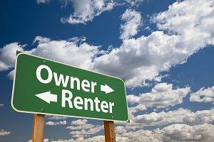 Owner, Renter Green Road Sign