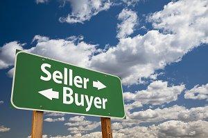 Seller, Buyer Green Road Sign