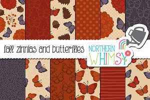 Fall Butterfly Seamless Patterns