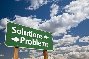 Solutions, Problems Green Road Sign