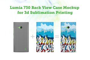 Lumia 730 Back3dCase Design Mockup
