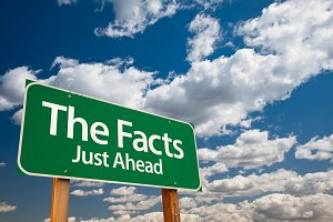 The Facts Green Road Sign