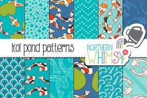 Fish Seamless Patterns - Koi Pond