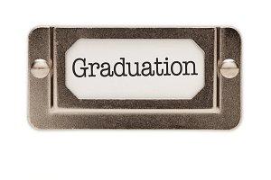 Graduation File Drawer Label