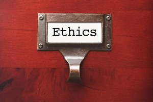 Lustrous Wooden Cabinet with Ethics