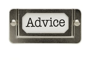 Advice File Drawer Label