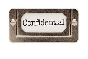 Confidential File Drawer Label