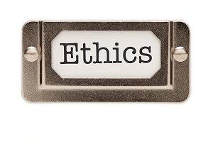 Ethics File Drawer Label