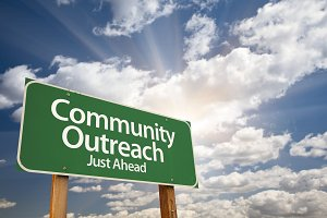 Community Outreach Green Road Sign