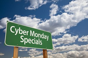 Cyber Monday Specials Road Sign