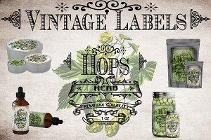 Hops Vintage Labels