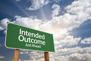 Intended Outcome Green Road Sign