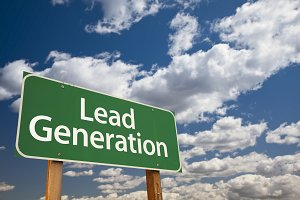 Lead Generation Green Road Sign