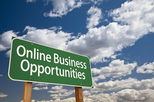 Online Business Opportunities Sign