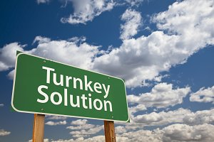 Turnkey Solution Green Road Sign