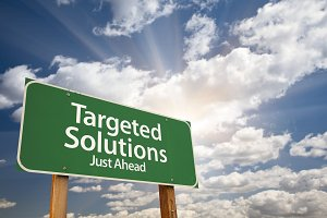 Targeted Solutions Green Road Sign