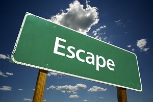 Escape Road Sign