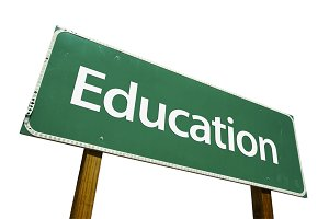 Education Road Sign Isolated