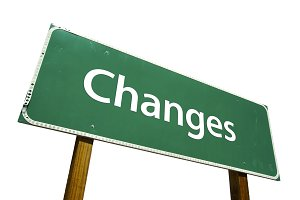 Changes Road Sign with Clipping Path