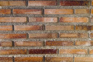 Red rustic brick background texture