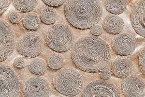 Rope circles background on cloth