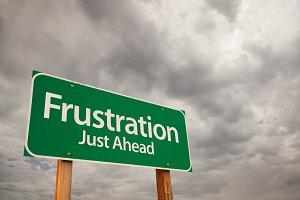 Frustration Green Road Sign