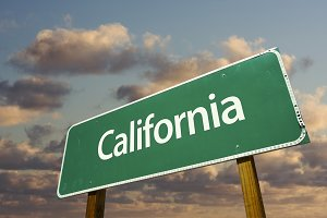 California Green Road Sign