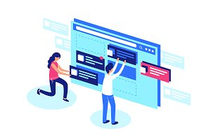 Web designers team