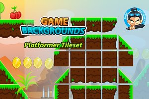 Plat Former Tile Sets Game BG 09