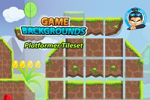 Plat Former Tile Sets Game BG 10