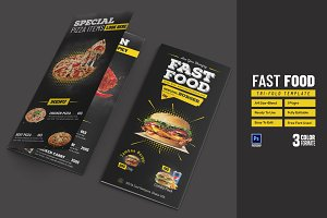 Fast Food Tri-fold Template