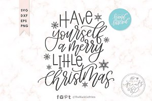 Merry little Christmas SVG DXF EPS