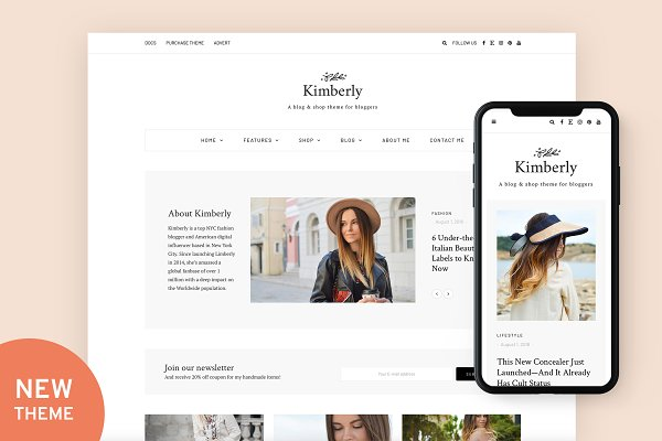 WordPress Blog Themes - Kimberly - Blog & Shop Theme