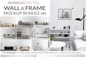 Blank Wall Mockup & Movable Frames