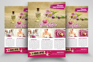 Spa Salon Beauty Treatment Flyer