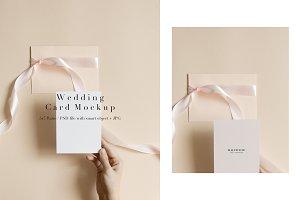 Styled Wedding Card Mockup 5x7 Ratio