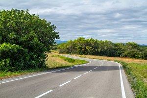 Picturesque, lonely, rural road