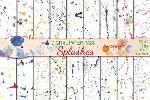 Watercolor Splashes patterns