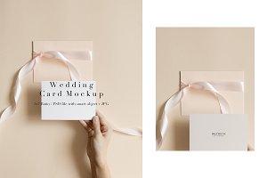 Horizontal Wedding Card Mockup