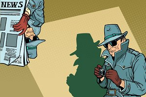 Detective Spy background concept