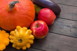 Autumn food crop vegetables harvest