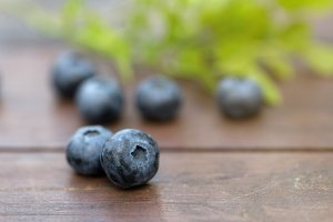 Fresh ripe sweep tasty blueberries o