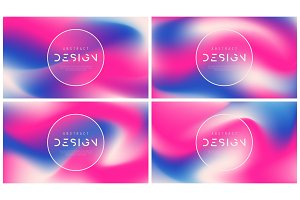 Set of vector abstract colorful