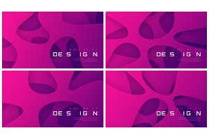 Set of vector abstract futuristic