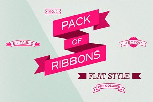 Pack of 66 Editable Ribbons